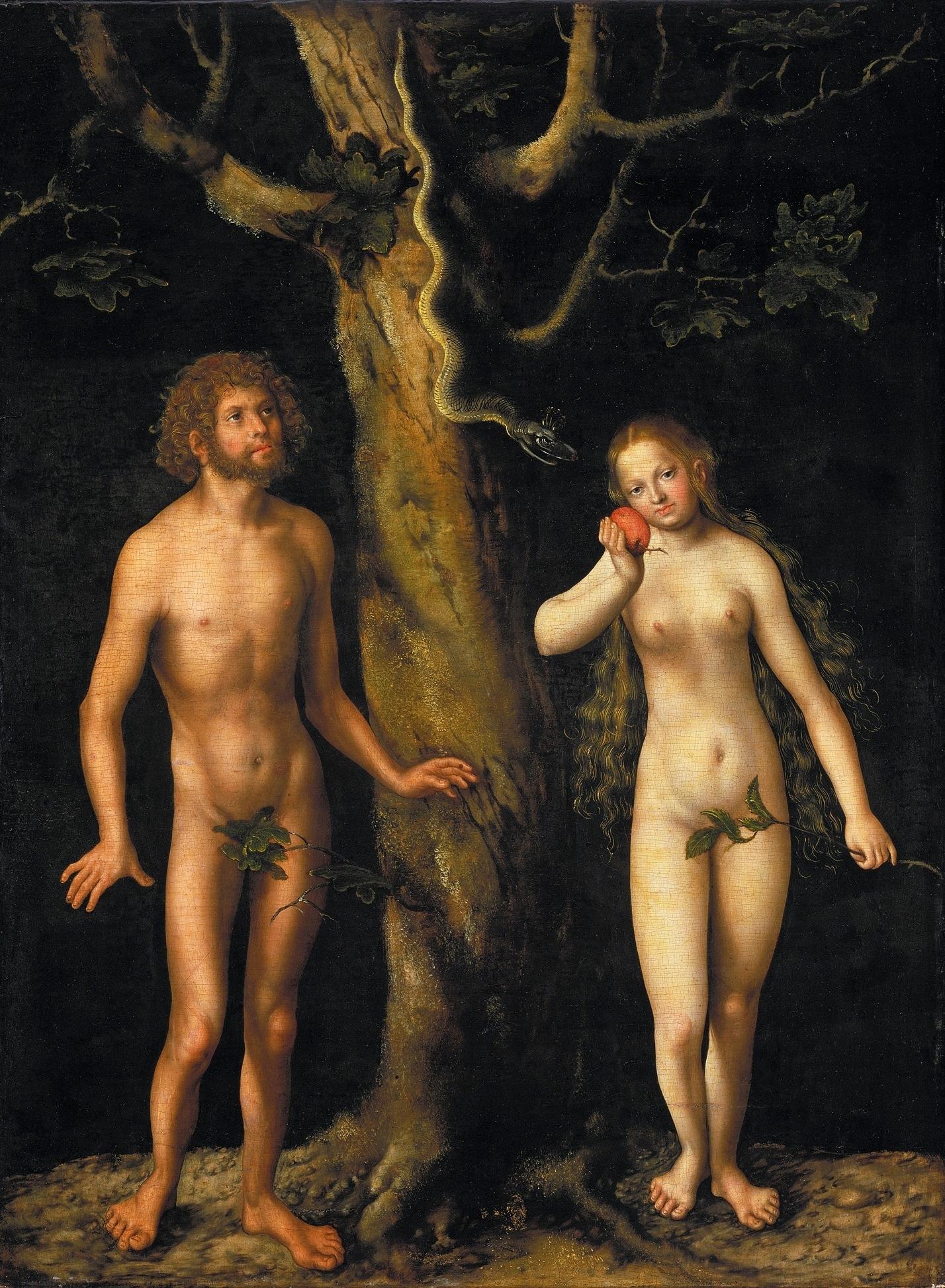 Adam and Eve, Lucas Cranach the Elder