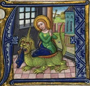 St Margaret takes on the dragon